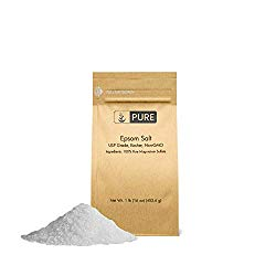 Epsom Salt (1 lb.) by Pure Organic Ingredients, Magnesium Sulfate Soaking Solution, All-Natural, Highest Quality & Purity, USP Grade