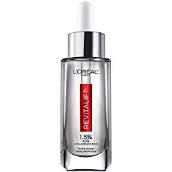 L'Oreal Paris Revitalift Skincare Revitalift Derm Intensives Pure Hyaluronic Acid Serum for Hydrated Plump Skin and Visibly Reduced Wrinkles, Paraben Free, Non Comedogenic, 1 fl. oz.