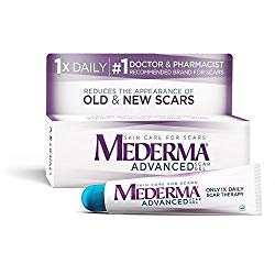 Mederma Advanced Scar Gel – 1x Daily: Use less, save more – Reduces the Appearance of Old & New Scars – #1 Doctor & Pharmacist Recommended Brand for Scars – 0.7 ounce
