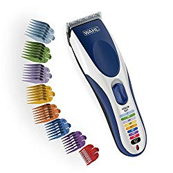 Wahl Color Pro Cordless Rechargeable Hair Clipper & Trimmer – Easy Color-Coded Guide Combs – For Men, Women & Children – Model 9649