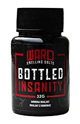 Ward Smelling Salts – Bottled Insanity – Insanely strong Ammonia Inhalant | Smelling Salt For Powerlifting Hockey Football Weight Lifting and More | Insane Smelling Salt