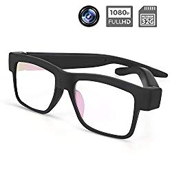 Camera Glasses 1080P Towero Mini Video Glasses Wearable Camera
