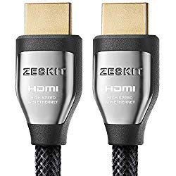 HDMI Cable 6.5ft Cinema Plus 28AWG (4K 60Hz HDR 4:4:4) HDCP 2.2 – Exceed HDMI 2.0, High Speed 22.28 Gbps – Compatible with Xbox PS3 PS4 Pro nVidia AMD Apple TV 4K Fire Netflix LG Sony Samsung
