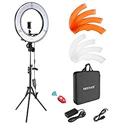 Neewer Ring Light Kit:18″/48cm Outer 55W 5500K Dimmable LED Ring Light, Light Stand, Carrying Bag for Camera,Smartphone,YouTube,Self-Portrait Shooting
