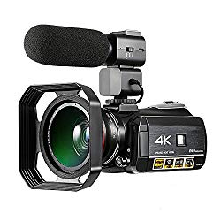 "Winait Super 4k WiFi Digital Video Camera with 3.0"" Touch Display, Night Vision Home Use 24Mp Digital Video Recorder (Add Lens Microphone)"