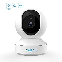 1440p 4MP Indoor WiFi Camera, 2.4ghz/5ghz Dual-Band Wireless Home Security, Pan Tilt Baby Monitor, Cloud Storage, Two-Way Audio, Night Vision and Remote Access, Reolink E1 Pro