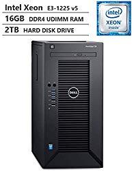 2019 Newest Dell PowerEdge T30 Premium Business Tower Server Desktop, Intel Xeon E3-1225 v5 up to 3.70GHz, 16GB DDR4 ECC UDIMM Memory, 2TB 7200RPM HDD, HDMI, DisplayPort, DVD-RW, No Operating System