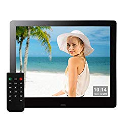 9 Inch Digital Picture Frame 1080P HD IPS Electronic Photo Frames Full Angle Signage USB SD/SDHC for Wedding Birthday Gift- Black