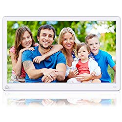 Aazomba 15 Inch Digital Picture Frame with High Resolution 1920×1080 16:9 IPS Screen, Motion Sensor, 1080P Video Player, Music, Slideshow, Breakpoint Play, Auto Power On/Off, Remote Control