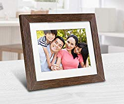 Aluratek 8″ Distressed Wood Digital Photo Frame with Auto Slideshow, 1024 x 768 (ADPFD08F)