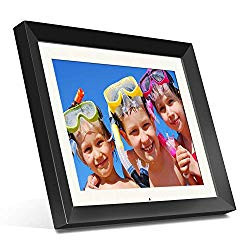 Aluratek (ADMPF415F) 15″ Hi-Res Digital Photo Frame with 2 GB Built-In Memory and Remote (1024 x 768 Resolution) White Matting, Photo/Music/Video Support