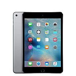 Apple iPad Mini 4, 128GB, Space Gray – WiFi + Cellular (Renewed)