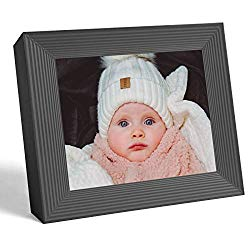 Aura Frames Digital Picture Frame Ultra HD Display – Free Unlimited Cloud Storage – Send 100k Pictures Instantly Via Aura App Share Photos with Family New Touch Bar Control WiFi Enabled Mason Frame