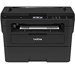 Brother Compact Monochrome Laser Printer, HLL2395DW, Flatbed Copy & Scan, Wireless Printing, NFC, Cloud-Based Printing & Scanning, Amazon Dash Replenishment Enabled – BLACK
