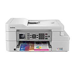 Brother MFC-J805DW INKvestmentTank Color Inkjet All-in-One Printer with Mobile Device and Duplex Printing with Up To 1-Year of Ink In-box, White, one size