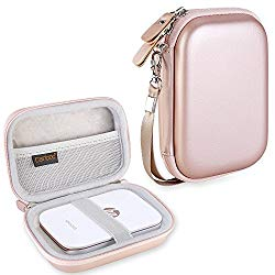 Canboc Shockproof Carrying Case Storage Travel Bag for HP Sprocket Portable Photo Printer and (2nd Edition) / Polaroid Zip Mobile Printer/Lifeprint 2×3 Portable Protective Pouch Box, Rose Gold