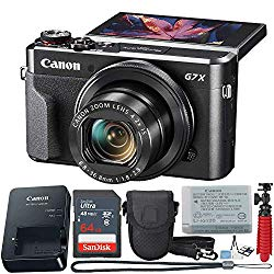 Canon PowerShot Digital Camera G7 X Mark II with Wi-Fi & NFC, LCD Screen, and 1-inch Sensor – (Black) 11 Piece Value Bundle