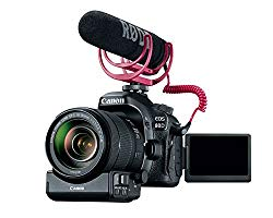 Canon Video Creator Kit [EOS 80D] with EF-S 18-135mm Lens, Rode VIDEOMIC GO, and 32GB Sandisk Memory Card – Black