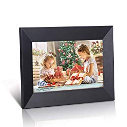 Dhwazz 8 Inch 16GB WiFi Digital Photo Frame, Share Photos Instantly via Mobile APP from Anywhere, Wall-Mountable, IPS Electronic Digital Frame with LCD Touch Screen