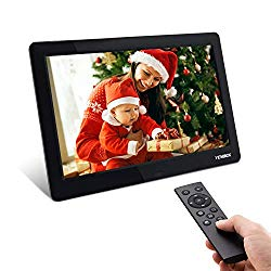 Digital Picture Frame, YENOCK 8.2 Inch IPS Screen Digital Photo Frame 1280×720 Pixels High Resolution Photo/Music/HD Video Player/Calendar/Alarm Auto On/Off Advertising Player with Remote Control