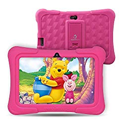 Dragon Touch Y88X Pro 7 inch Kids Tablets with Disney Story Contents, 2GB RAM 16GB ROM, Android 9.0 Tablets, Kidoz Pre-Installed WiFi Android Tablet, Kid-Proof Case, Pink