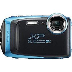 Fujifilm FinePix XP130 16.4MP Digital Camera, 5X Optical Zoom, 1080p Full HD Video, Motion Panorama 360, Wi-Fi, Water/Shock/Freeze/Dustproof, Sky Blue