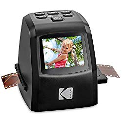 KODAK Mini Digital Film & Slide Scanner – Converts 35mm, 126, 110, Super 8 & 8mm Film Negatives & Slides to 22 Megapixel JPEG Images – Includes – 2.4 LCD Screen – Easy Load Film Adapters