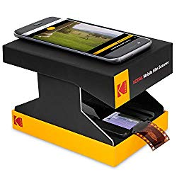 KODAK Mobile Film Scanner – Scan & Save Old 35mm Films & Slides w/Your Smartphone Camera – Portable, Collapsible Scanner w/Built-in LED Light & Free Mobile App for Scanning, Editing & Sharing Photos
