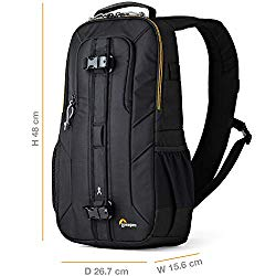 Lowepro LP36899PWW Slingshot Edge 250 AW – A Secure, Slim, Smart and Protective Sling for a Compact DSLR or DJI Mavic Pro/Mavic Pro Platinum,Black,9.06 x 4.72 x 8.27 in