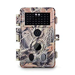 Meidase Trail Camera 16MP 1080P, Game Camera with No Glow Night Vision Up to 65ft, 0.2s Trigger Time Motion Activated, 2.4″ Color Screen and Unique Keypad, Waterproof Wildlife Hunting Camera…