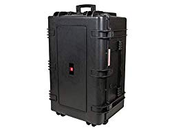 Monoprice Weatherproof/Shockproof Hard Case with Wheels – Black IP67 Level dust and Water Protection up to 1 Meter Depth with Customizable Foam, 33″ x 22″ x 17″
