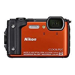 Nikon W300 Waterproof Underwater Digital Camera with TFT LCD, 3″, Orange (26524)