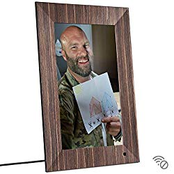NIX Lux 13 Inch USB Digital Photo Frame Wood – Full HD IPS Display, Auto-Rotate, Motion Sensor, Remote Control – Mix Photos and Videos in The Same Slideshow