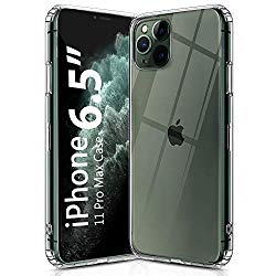 OULUOQI Compatible with iPhone 11 Pro Max Case 2019, Shockproof Clear Case with Hard PC Shield+Soft TPU Bumper Cover Case for iPhone 11 Pro Max 6.5 inch.