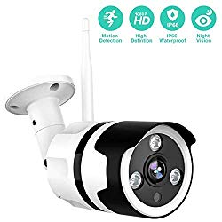 Outdoor Camera Wireless – 1080P Outdoor Security Camera with Night Vision, Motion Detection & Instant Alert, Zooms Function, IP66 Waterproof, with 2-Way Audio, Cloud Storage/SD Card Work with Alexa