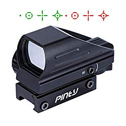 Pinty Red Green Reflex Holographic Rifle Scope Dot Sight 4 Different Reticles