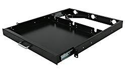 Raising Electronic 1U Rack Mount Sliding Keyboard Tray Cantilever for Server Data Network Rack
