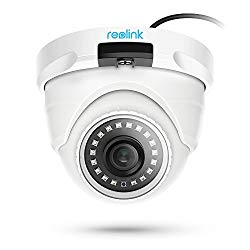 REOLINK PoE IP Camera Outdoor 5MP HD Video Surveillance Work with Google Assistant, Audio IR Night Vision Motion Detection SD Card Slot RLC-420-5MP