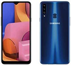"""Samsung Galaxy A20s A207/DS, 32GB/3GB RAM Dual SIM 6.5""""HD+ Snapdragon 450, Factory Unlocked (International Version) – (Blue)"""