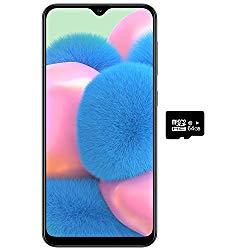 Samsung Galaxy A30S w/On-Screen Fingerprint (64GB, 4GB) 6.4″, Triple Camera, Dual SIM GSM Unlocked A307G/DS – US + Global 4G LTE International Model (64GB + 64GB SD + Case Bundle) (Black)
