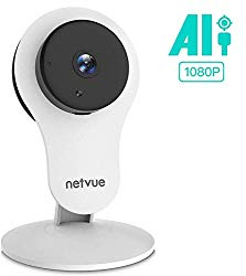 Security Camera – 1080P Indoor Camera with Phone APP and Audio, Home Camera with Wide-Angle Lens, Night Vision & AI Motion Detection, 2-Way Audio, Netvue Indoor Camera Work with Alexa