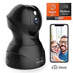 Security Camera 1080P WiFi Dog Pet Camera – KAMTRON Wireless Indoor Pan/Tilt/Zoom Home Camera Baby Monitor IP Camera with Motion Detection Two-Way Audio, Night Vision – Cloud Storage