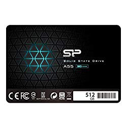 Silicon Power 512GB SSD 3D NAND A55 SLC Cache Performance Boost SATA III 2.5″ 7mm (0.28″) Internal Solid State Drive (SP512GBSS3A55S25)