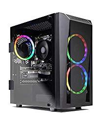 Skytech Blaze II Gaming Computer PC Desktop – RYZEN 7 2700X 8-core 3.7 GHz, RTX 2060 Super 8G, 500GB SSD, 16GB DDR4 3000MHz, RGB Fans, Windows 10 Home