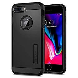 Spigen Tough Armor [2nd Generation] Designed for Apple iPhone 8 Plus Case (2017) / Designed for iPhone 7 Plus Case (2016) – Black