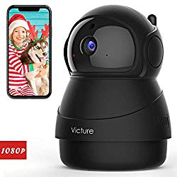 Victure 1080P FHD WiFi IP Camera Indoor Wireless Security Camera Motion Detection Night Vision Home Surveillance Monitor 2-Way Audio Baby/Pet/Elder
