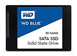 WD Blue 3D NAND 500GB Internal PC SSD – SATA III 6 Gb/s, 2.5″/7mm, Up to 560 MB/s – WDS500G2B0A