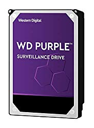 WD Purple 4TB Surveillance Hard Drive – 5400 RPM Class, SATA 6 Gb/s, 64 MB Cache, 3.5″ – WD40PURZ