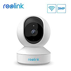 Wireless Security Camera, Reolink 3MP HD Indoor WiFi Pet Camera Home Security System, Pand TIilt Baby Monitor with Phone App, Two-Way Audio, Night Vision, Remote Viewing Cloud/Local SD Storage, E1