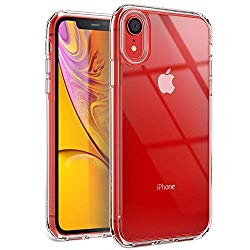 YOUMAKER Stylish Crystal Clear Case for iPhone XR, Anti-Scratch Shock Absorption Slim Fit Drop Protection Premium Bumper Cover Case for iPhone XR 6.1 inch (2018) – Clear